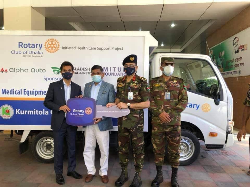 Medical Equipment and Medicine Transporting Van to Kurmitola General Hospital, Dhaka